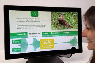 Interaktives Exponat Vogelkaraoke